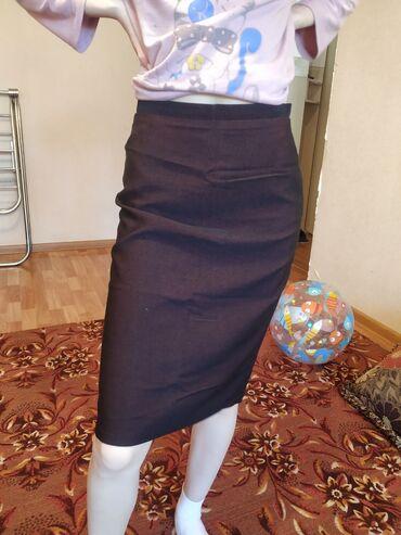 Новая юбка, размер S, находится в 8 микр. Цвет темно фиолетовый. Фасон