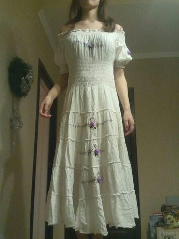 Платье-крестьянка 200 сом, серое платье в Бишкек