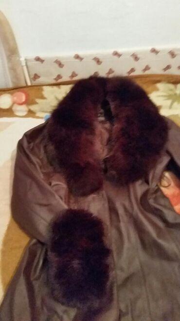 свадебные платья 50 р в Кыргызстан: Плащ- пальто два в одном. Натуральная кожа и мех. Состояние отличное