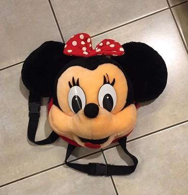 Παιδική κοριτσιστικη, λούτρινη τσάντα backpack κεφάλι Minie Mous