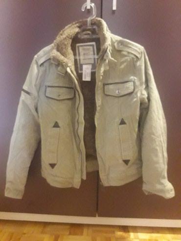Muska krznena jakna - Srbija: Nova muska jakna Alcott,krem sa krznom,od somota,vel. M