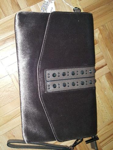 Nova pismo torbica plisana boja cafe - Bor