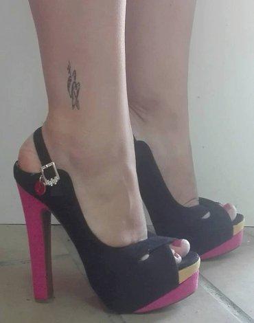 Sandale nove italijanske 15cm štikla. Vel. 37 - Sokobanja