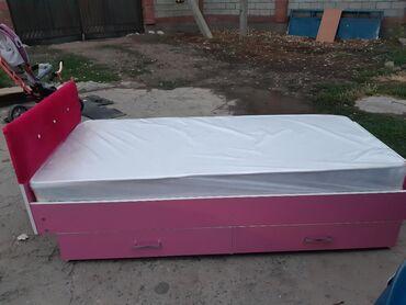 Кровать шкаф для девочки розовый красивый свет на заказ 12000