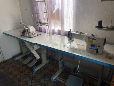 электро швейная машинка в Кыргызстан: Продаётся швейная машинка Britex прямострочка и пятинитка Britex. Сост