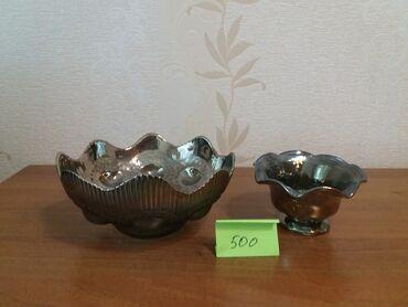 Вазы - Кыргызстан: Вазы новые - стекло, покрытое перламутром, цена указана за 2 вазы
