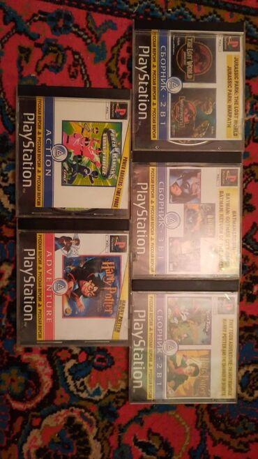 Playstation 1 diskleri, 24 dene, 3 denesi 5 manat, biri 2 manat