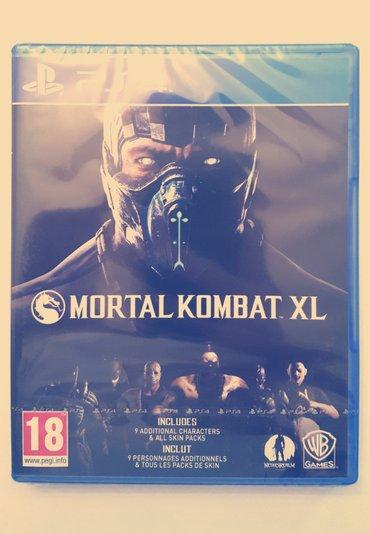 Bakı şəhərində PS4 üçün MortalKombat XL oyun diski. Yenidir. Rus dilində altyazı