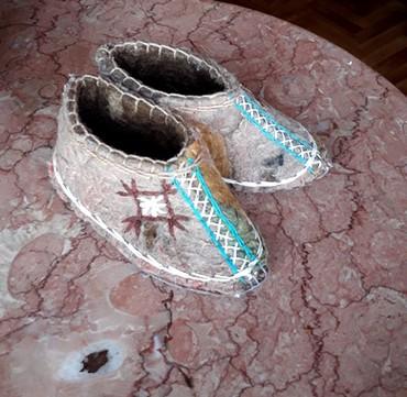балетки войлочные в Кыргызстан: Войлочные тапочки на малыша. Ручная работа. Размер 14.5 - 15 см по