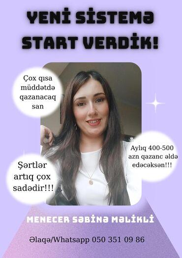 26 elan | İŞ: Dünya brendi olan şirkətə menecer xanımlar tələb olunur. İş qrafiki