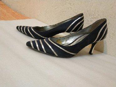 туфли атлас в Кыргызстан: Продаю туфли красивые, выходные. Атласные, темно- синие, с серебристым
