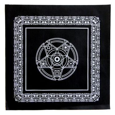 Скатерть 50х50см чёрная, фиолетовая. Изготовлена из нетканого материа