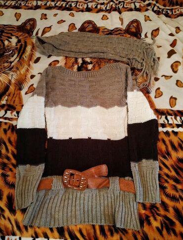 женская платье 42 44 размер в Кыргызстан: Очень тёплая кофта в хорошем состоянии. Размер 42-44 окончательно
