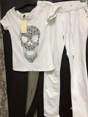 I-y - Кыргызстан: Спортивный костюм женский куплен в Италии новый, размер s-m(38-44