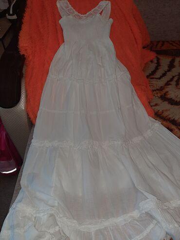 Сарафан белый длинный в хорошем состоянии размер s всего 300 сом