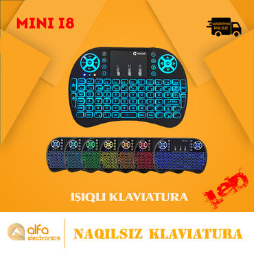 usb led traka za tv - Azərbaycan: Naqilsiz Wireless Mini Klaviatura i8Təyinat: Kompüter, TV, Noutbuk