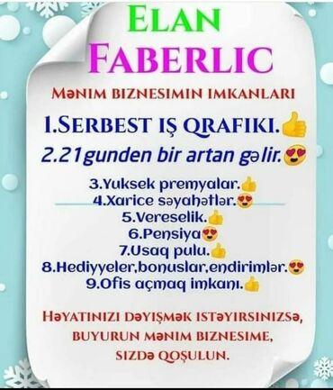 mövsümi uşaq çəkmələri - Azərbaycan: Şəbəkə marketinqi məsləhətçisi. Faberlic. 30-45 yaş. Natamam iş günü. 8-ci kilometr r-nu