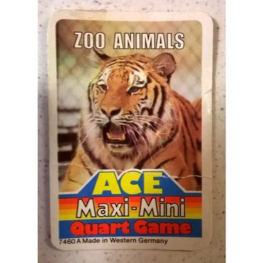 Ace Maxi Mini Quart Card Game - Quart Top Trumps - Zoo Animals - σε Athens