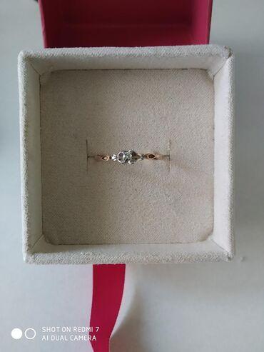 реалми 5 про цена в бишкеке в Кыргызстан: Кольцо с бриллиантом, Россия 585 проба, красное золото размер 18.5