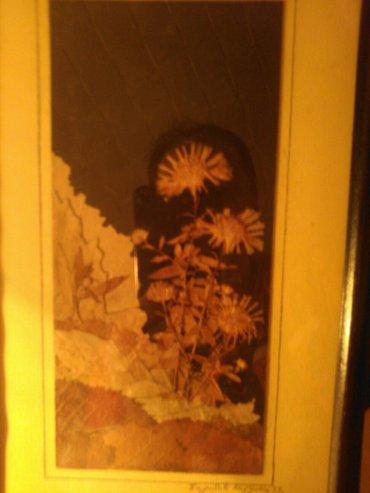 Slika od latica suvog cveca i lisca. Autorka ovog prelepog rada je mir - Pancevo