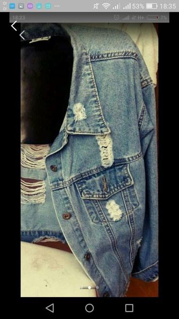 синий пиджак женский в Кыргызстан: Срочно продаю красивый джинсовый пиджак!!! 500 сом
