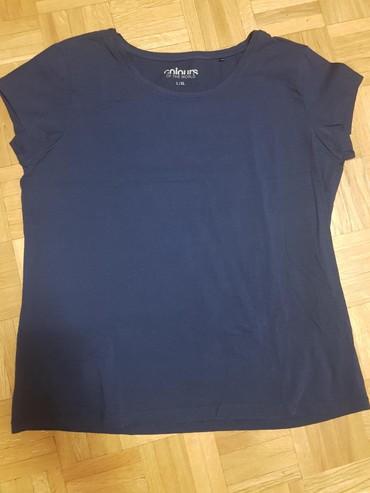 Majica pamucna xl - Srbija: Majica teget pamucna,kupljena u Becu par puta obucena kao nova L-Xl