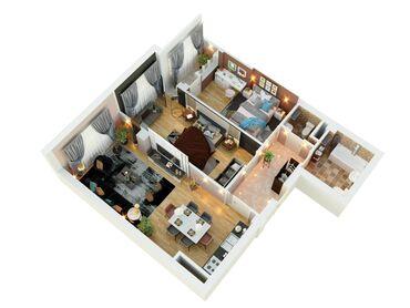 продается квартира в бишкеке в Кыргызстан: 2 комнаты, 70 кв. м