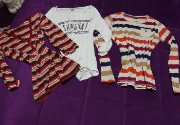Din tri - Srbija: Tri bluze, velicina S za 300 din