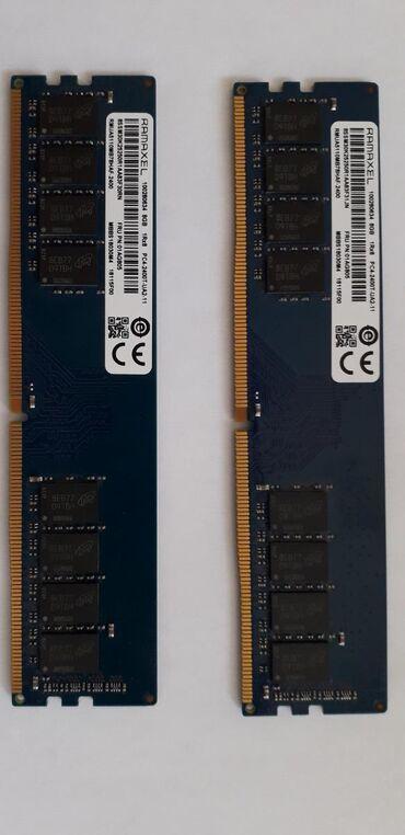 Kompüter, noutbuk və planşetlər Gəncəda: 8GB DDR4 stolüstü komputer üçün 2 ədəd ram satıram. Ram test olunub
