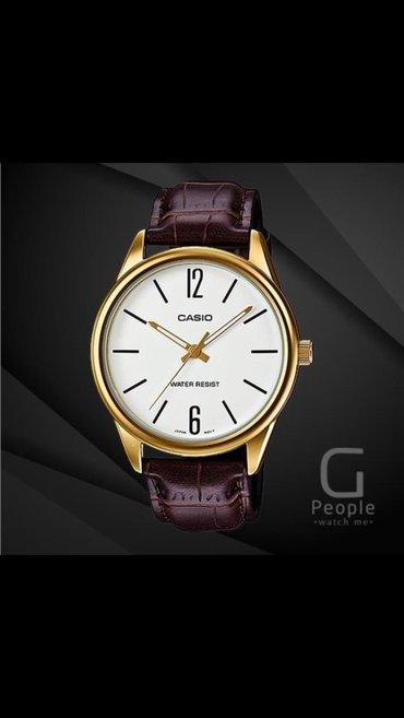Мужские Золотые Классические Наручные часы Casio в Бишкек