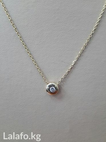 цепочка с клончикам в Кыргызстан: Цепочка с бриллиантом 0. 07карат