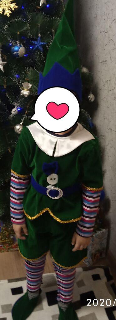 Новогодний костюм гнома, на 3-4 года, состояние отличное