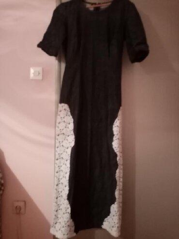 Duga leprsava haljina - Kraljevo: Teksas haljina sa cipkom duga l velicina