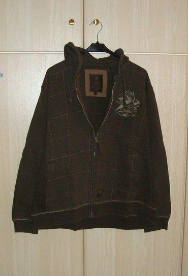 Ζακέτα φούτερ ανδρική, XL, λαδί, ελάχιστα φορεμένη, άριστη κατάσταση σε Kamatero