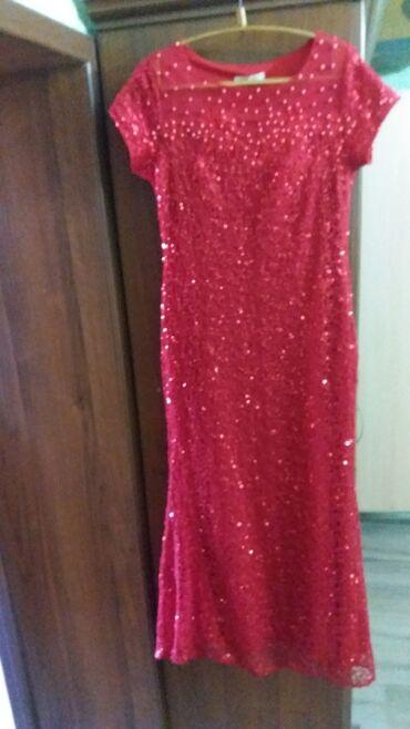 красное платье в пол в Кыргызстан: Торжественное платье красного цвета. Из коллекции 2020 года. Длинной в