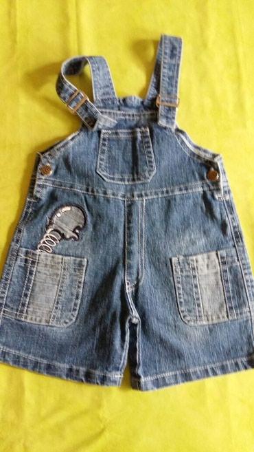 Kratke pantalone na tregere od teksasa za bebe 6-12m,polovne i ocuvane - Petrovac na Mlavi