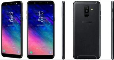 Электроника - Баткен: Samsung Galaxy A6 Plus   32 ГБ   Черный   Сенсорный, Отпечаток пальца, Две SIM карты