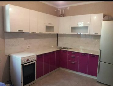 Кухня на заказ акрил пагон метр 10000 ломинат 8000 в Бишкек