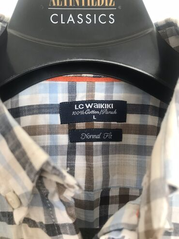 рубашка от mexx в Кыргызстан: Рубашка LC Waikiki (Турция ) с карманом,  состояние 10/10  Хлопок 100%
