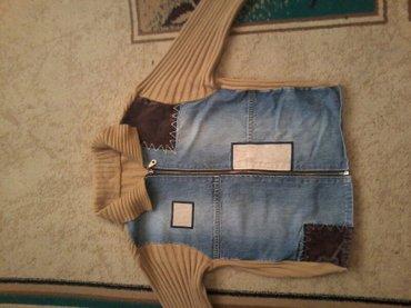 продаю джинсовую кофту размер 42-44. б/у. цена 400сом. в Бишкек
