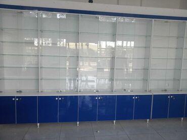 Mağaza vitrinleri - Азербайджан: Magaza ucun vitrin mebeli,ela veziyyetde. Olculeri: 1) 2,18sm *4,40 sm