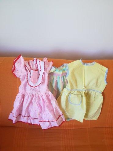 Tri prelepe haljine za leto vel 1-2 sve za 1000 din, obim grudi 56/60