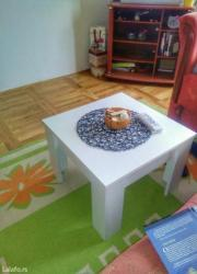 -klub sto se izradjuje od univera 18mm u belom dezenu--dimenzije su 5 - Sopot