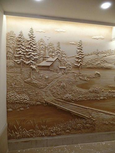 Скульптура рельеф в Бишкек