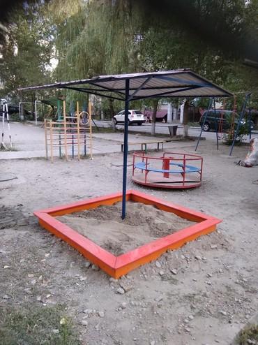 деревянные игрушки буратино в Кыргызстан: Деревянные песочницы с грибком. для детских садов, общих и частных