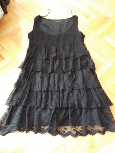 Crna haljina cipka vel.M Zara - Nis