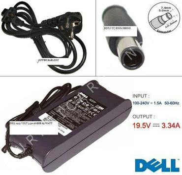 Dell adapterləri Hər modelə uyğun var. Zəmanət 3ay Metrolara pulsuz ça