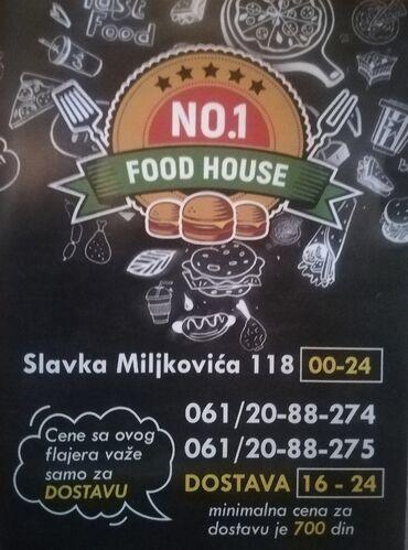 """Dostava hrane - Srbija: Dostava brze hrane odličnog kvaliteta firme """"Food house N01"""" iz"""