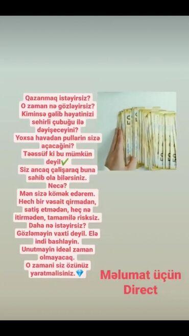 is yerleri 2018 - Azərbaycan: Şəbəkə marketinqi məsləhətçisi. İstənilən yaş. Natamam iş günü
