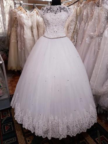 свадебные платья in Кыргызстан   МАТЕРИНСКИЕ ПЛАТЫ: Свадебное платье, размер 44-46,прокат. Продажа договоримся,все аксессу